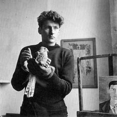 Lucian Freud (1922-2011), Born December 8, 1922 in Berlin, Weimar Republic, Germany. He was a grandson of Sigmund Freud and his father was an architect who was prevented from working in Germany in 1933. His family moved to England before things became worse following the Great Depression (1930-1933) and the ascent of the nascent Nazi Party and Adolf Hitler in 1933. This photo is of Lucian Freud at 25 in 1947 by photographer Clifford Coffin.