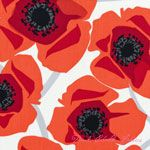 Jane Dixon Poppy Modern Bold Poppy Red [AF-6068-R] - $7.95 : Pink Chalk Fabrics is your online source for modern quilting cottons and sewing patterns., Cloth, Pattern + Tool for Modern Sewists