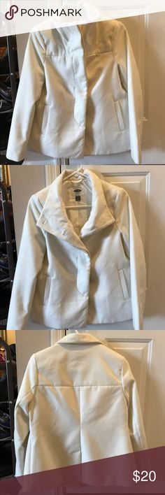 White Peacoat Jacket Spotless white peacoat jacket. I literally wore this twice to church- I was too afraid to get it dirty! 😊 Old Navy Jackets & Coats Pea Coats