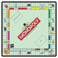 Tapis de souris Monopoly plateau de jeu, original comme cadeau Nintendo :)…