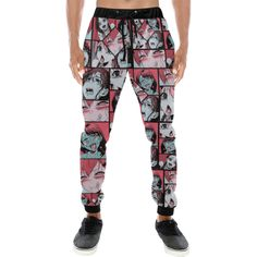 c5a71969ef7e7 Retro Ahegao Pop Art Collage Men's All Over Print Sweatpants