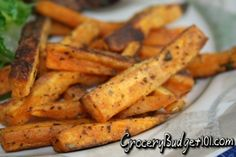 These savory sweet potato fries are an excellent way to take advantage of a healthy vegetable that is loaded with vitamin A, fiber and potassium.