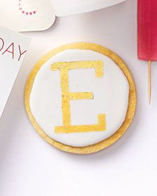 Add a signature touch when you give these cookies as gifts. Download our clip-art letter stencils, print on heavy paper or card stock, and cut out.