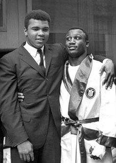 Muhammad Ali and Joe Frazier.