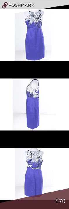 BNWT TAHARI 🌷 Purple Orchid floral halter dress TAHARI halter style dress with a grey, white and black floral design. Black shoulder straps, sew in belt. Small slit on back of skirt. Knee length. Back zipper and small hook closure. Fully lined with very smooth purple satin material. Fitted. Requires dry clean. Tahari Dresses Midi