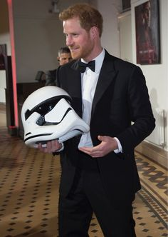 Prince Harry at the European premiere of Start Wars: The Last Jedi