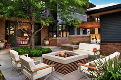 Read through this article to see lots of designs.   DIY Network shows you how to locate and design a comfortable patio space that helps you get the most enjoyment from your fire pit.