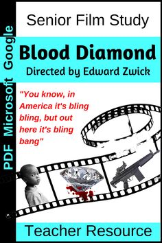 A complete teaching kit with teacher notes, annotated studies of key scenes, student doc for background research, student response journal for key scenes and more.  A result of several years of teaching this film, this resource is absolutely fine-tuned to cater to high school teachers of English or Media Studies and their students. Media Studies, Film Studies, Blood Diamond Film, Teacher Notes, Teacher Resources, No Response, High School, Students, Study