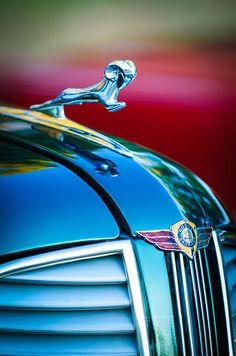 1937 Dodge Hood Ornament - Emblem - Car Images by Jill Reger