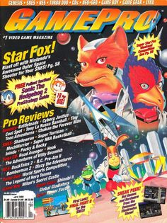 Gamepro, 1993. Classic Video Games, Retro Video Games, Video Game Art, Gaming Magazines, Video Game Magazines, Star Fox, My Magazine, School Games, Video Game Characters
