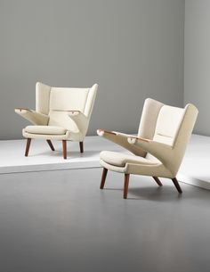 HANS J. WEGNER Pair of rare 'Bear' chairs, 1960s