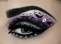 Bat batman horror makeup dc purple byme Hero heroes villain sugarpill poison plum luciferismydad kiki makeup kirsty childs makeup