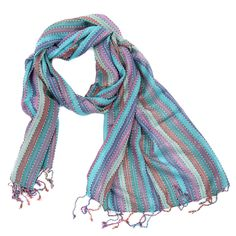 Silver Striped Woven Scarves - Four Colours by Charlotte's Web Charlottes Web, Woven Scarves, Colours, Turquoise, Silver, Touch, Style, Fashion, Swag