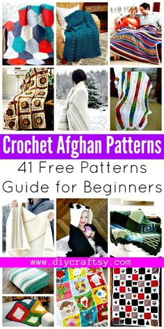 Crochet Afghan Patterns - 41 Free Patterns for Beginners - DIY & Crafts