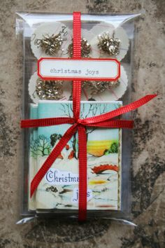 Christmas joys tiny book by juliecollings on Etsy.