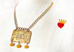 Escape-brass pendantlarge pendantetched metalstatement