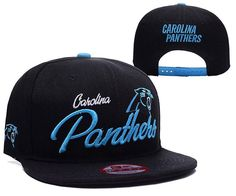 Mens Carolina Panthers New Era Structured Fit NFL Chase Script Front 9FIFTY Snapback Cap - Black