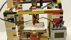 Made from LEGO and various odds and ends, Matthew Krueger's low cost LEGObot 3D printer prints using hot glue. (Jul 2013)