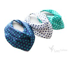 Baby and Toddler Bandana BibsScarfDrool bib set of 3 by LouEmbres, $21.00
