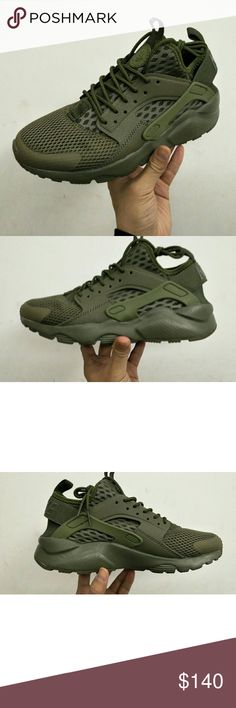 Nike Huarache Ultra Run BR (DS) Brand New in Box Rare Color Nike Huarache Ultra Run (DEADSTOCK) Color: Triple Olive Green Rare Comes with the shoe Box  Retails for $140 Will Ship within 24-48hrs upon time of purchase and time of day Buy with confidence and feel free to ask questions Nike Shoes Sneakers
