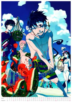 Lol Blue Exorcist. Murder dem watermelons bruh