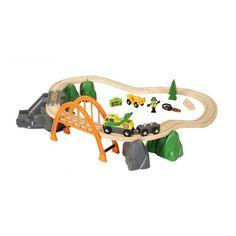 Trenino BRIO - Lumber Loading Set - Railway 33789 | lalberoazzurro.net