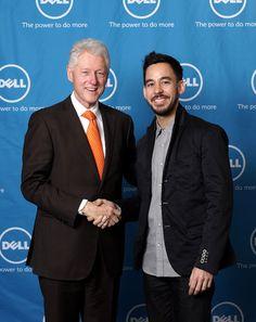 MIKE SHINODA with BILL CLINTON...