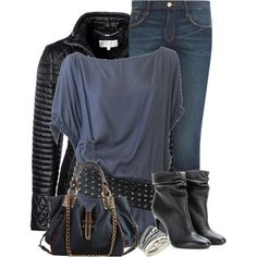 """""""Ankle Boots & Boyfriend Jeans"""" by daiscat on Polyvore"""
