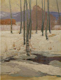 "George Carlson paintings | Robert Lougheed Memorial Award January Thaw Oil on linen, 42"" x 32 ..."