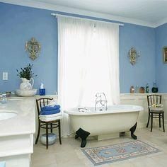 Blau-Weiß Bad Wohnideen Badezimmer Living Ideas Bathroom