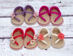 Crochet Baby Pattern Sandals  Carefree Sandals number 219