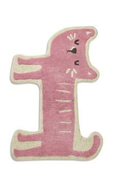 Pink Cat Shaped Rug