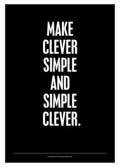 'Simple Clever Black Edition.' by Raphael Mahon on artflakes.com as poster or art print $17.33