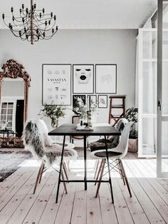beautiful dining room idea | black and white | scandinavian style | stylish home | lovely interior | Fitz & Huxley | www.fitzandhuxley.com
