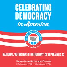 We're officially ONE month away from National Voter Registration Day! See how you can get involved and join thousands across the nation to #CelebrateNVRD! http://www.nationalvoterregistrationday.org/