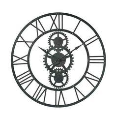 horloge originale en bois bistrot de paris 1949