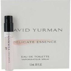 David Yurman Delicate Essence By David Yurman Edt Spray Vial On Card Blonde Wood, Fragrance Samples, Orange Blossom, Pink Peonies, Pink Tourmaline, David Yurman, Delicate, Perfume, Cards