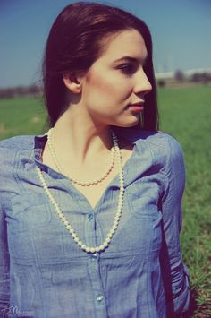 Pearls with denim