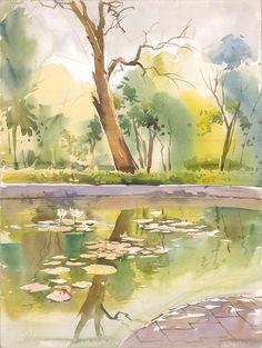 Watercolor Scenery, Watercolor Art Face, Watercolor Landscape Paintings, Watercolor Canvas, Easy Watercolor, Scenery Paintings, Indian Art Paintings, Nature Artwork, Natural
