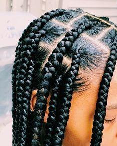 Box Braids Hairstyles For Black Women, Braids Hairstyles Pictures, Dope Hairstyles, African Braids Hairstyles, Braids For Black Hair, Hairstyle Short, School Hairstyles, Big Braids, Braids With Beads