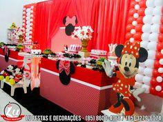 Festa Infantil - Tema Minnie Vermelha. Solicite orçamento através do nosso Whatsapp: (85) 8601-4366 / (85) 3279-6074