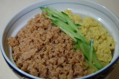 Two Color Soboro Don Rice Bowl - Great For Bentos Too