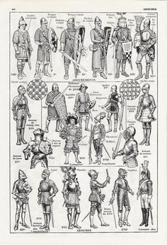 1953 French Armors Cavalry Military Book Print Page For