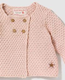 Chaqueta de bebé niña Brotes en color rosa