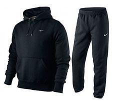 Nike Mens Full Tracksuit fleece Hooded Jogging Bottm Joggers
