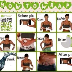 Follow these simple instructions to tighten, tone and firm a targeted area in 45 minutes!!! #itworks #bodywraps. Http://www.jillianh.myitworks.com