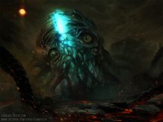Azlan by TentaclesandTeeth That Which Sleeps the dreaming god H. P. Lovecraft monster beast creature animal | Create your own roleplaying game material w/ RPG Bard: www.rpgbard.com | Writing inspiration for Dungeons and Dragons DND D&D Pathfinder PFRPG Warhammer 40k Star Wars Shadowrun Call of Cthulhu Lord of the Rings LoTR + d20 fantasy science fiction scifi horror design | Not Trusty Sword art: click artwork for source