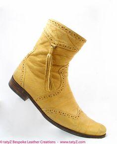 Safari inspired  leather boots www.tatyZ.com/shop-online