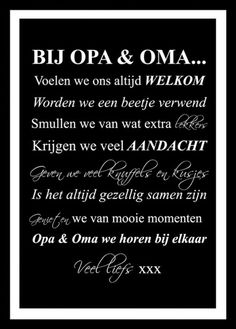 poster met regels voor bij opa en oma van maison marcella. leuk cadeau voor de feestdagen!