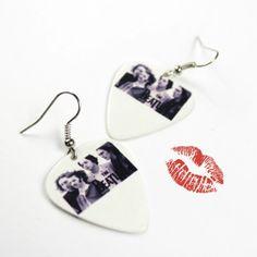 Beatles Guitar Pick Earrings by HausofAriella, $10.00